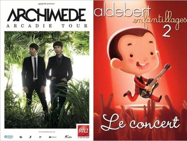 Entretien croisé Archimède / Aldebert à l'occasion de leurs concerts consécutifs à Marseille les 19 et 20 décembre 2014
