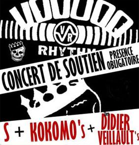 S + Thee Didier Veillaults + The Kokomos en concert