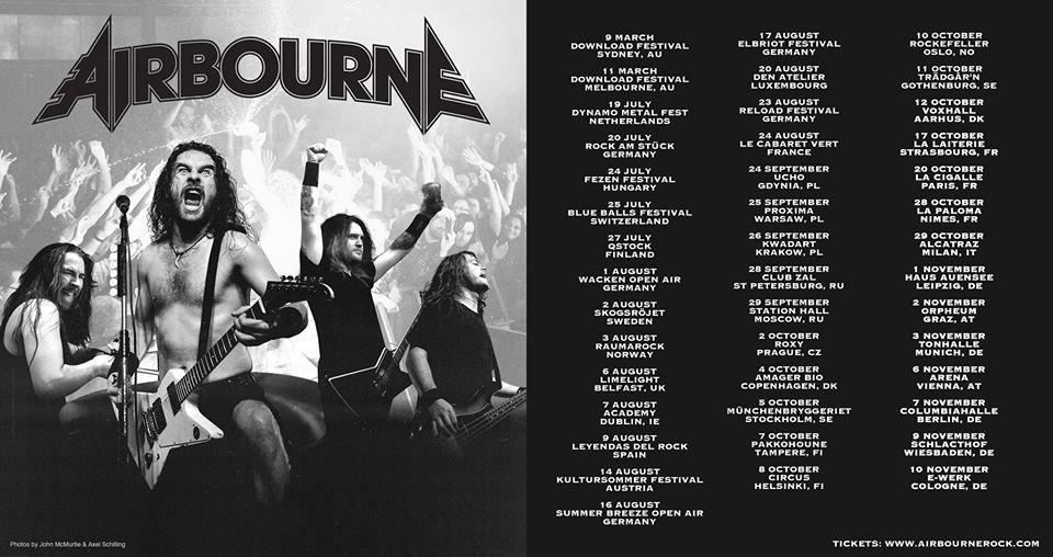 Airbourne + Porn Queen en concert
