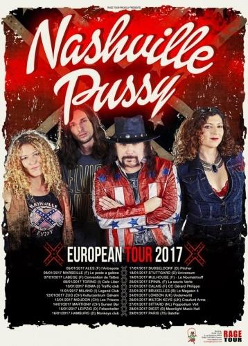NASHVILLE PUSSY + Partouzzzze Bastards en concert