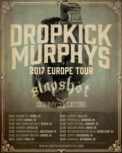 Dropkick Murphy's + Slapshot + Skinny Lister + Lion's Law en concert