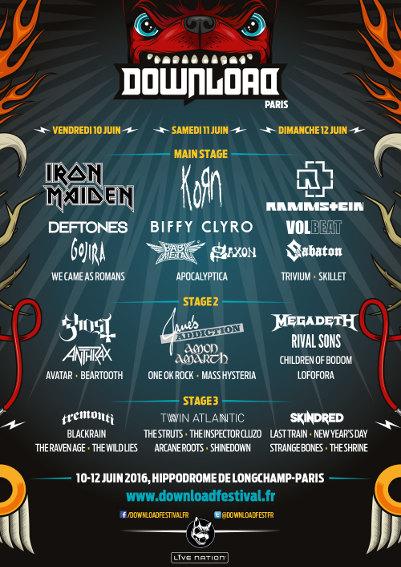 Rammstein (Download Festival France 2016) en concert