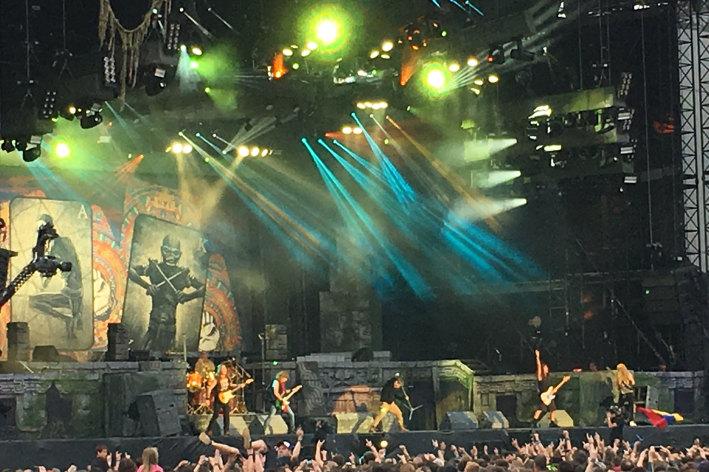 Iron Maiden + Ghost + Blackrain (Download Festival France 2016) en concert
