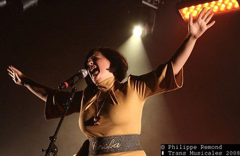 Miss Platnum (Transmusicales de Rennes 2008) en concert