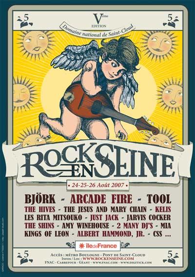 Arcade Fire + The Hives + The Shins + Dinosaur Jr + Hey Hey My My + Rodeo Massacre + Dizzee Rascal + M. I. A. + Rock & Roll (Rock en Seine 2007)  en concert