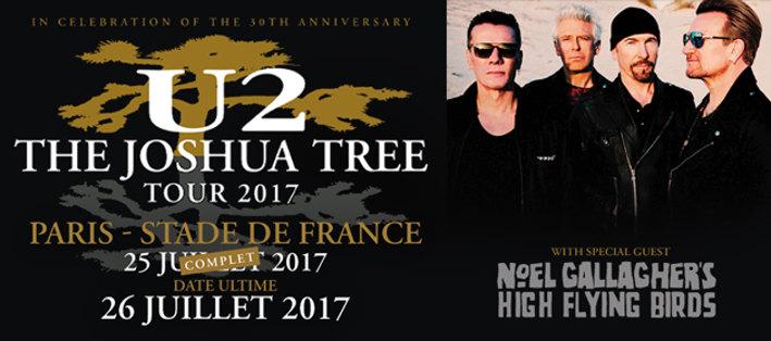 U2 + Noel Gallagher (The Joshua Tree Tour 2017) en concert