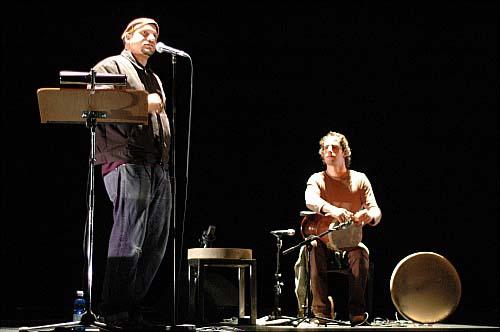 Frédéric Nevchehirlian + Mike Ladd + Busa + Serge Teyssot-Gay + Carol Robinson + Keyvan Chemirani (Slam et souffle) en concert