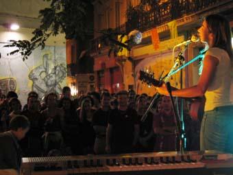 David Lafore + Anais + Laurent Boudin + ... (Fete du Plateau) en concert