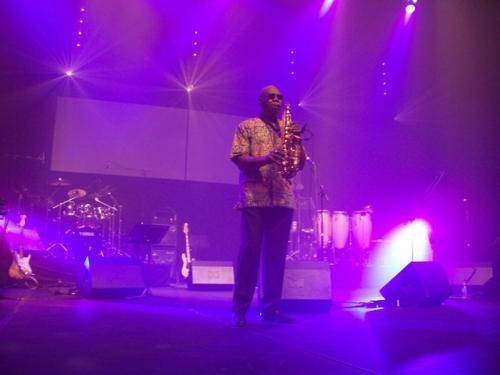 Manu Dibango (Festival de l'Anche) en concert