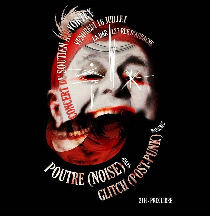 Glitch + Poutre (soutien au Vortex) en concert
