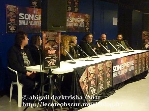 Conférence de presse du Sonisphere en concert