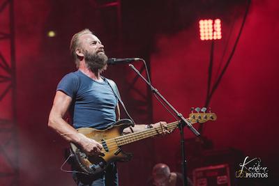 Sting + James Walsh (Festival de Nîmes 2015) en concert