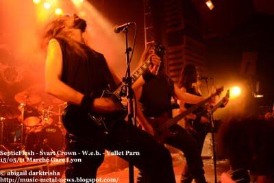 Septicflesh + Svart Crown + W.E.B.  en concert