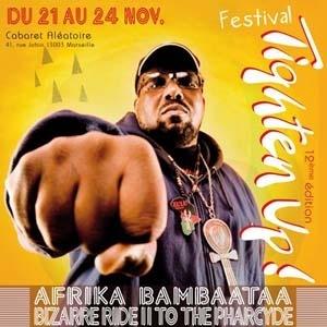 Afrika Bambaataa + The Mighty Mocambos + Dee Nasty (Festival Tighten Up) en concert